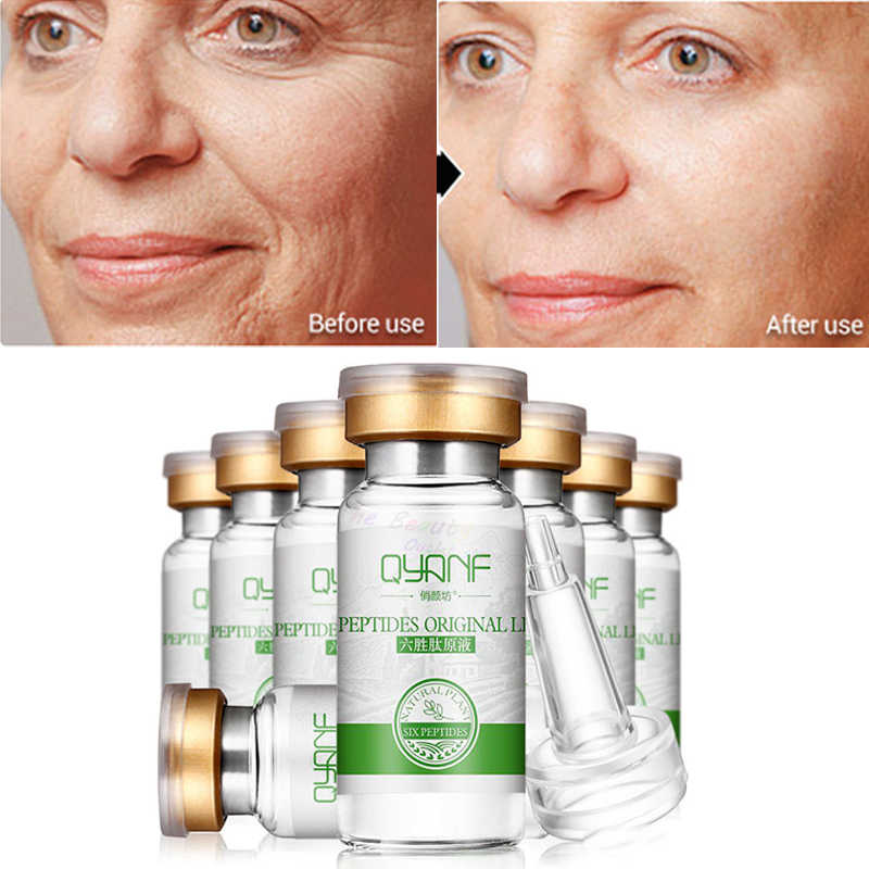 5Pcs Six Peptides Serum Anti-Wrinkle Cream Anti Aging Collagen Rejuvenating Face Lift Skin Care Face Cream