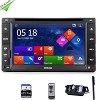 EQ In Dash GPS Auto Radio Navigation System RDS 6.2 Universal SD Logo Audio USB Stereo MP5 Car DVD Player