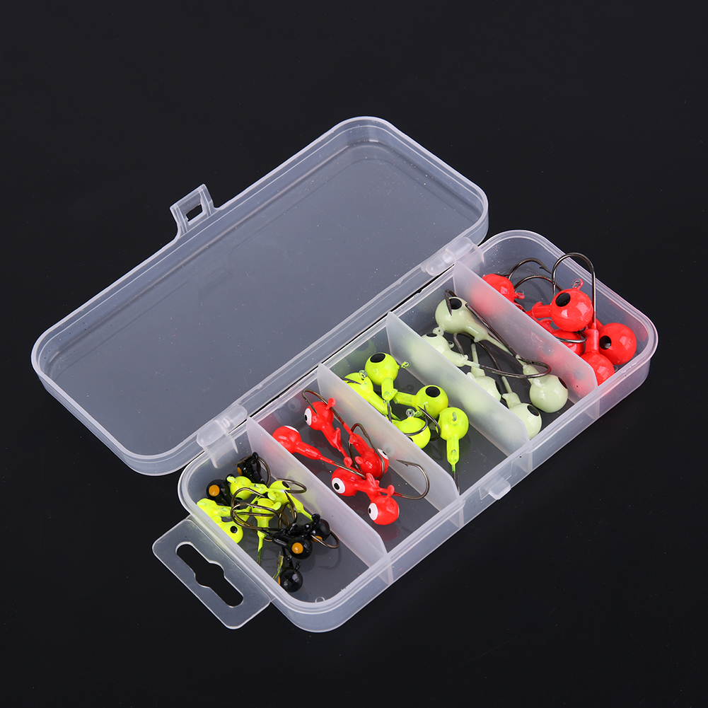 30Pcs 1.8g/3.5g/5g/7g/10g Fishing Lure Lead Jet Head Long Hook Artificial Crankbait Wobble With Lure Box Fising Tool Accessories 30pcs set fishing lure kit hard spoon metal frog minnow jig head fishing artificial baits tackle accessories