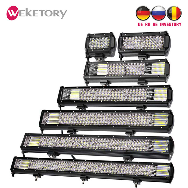 weketory Quad Rows 4 - 44 Inch LED Bar LED Light Bar for Car Tractor Boat OffRoad Off Road 4WD 4x4 Truck SUV ATV Driving 12V 24V