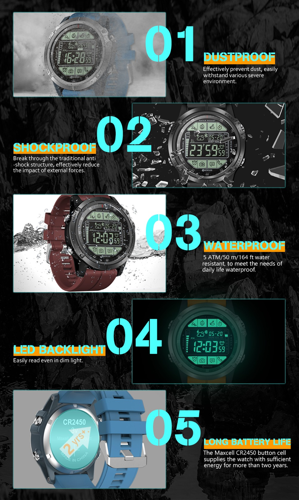 4VIBE 3S montre intelligente