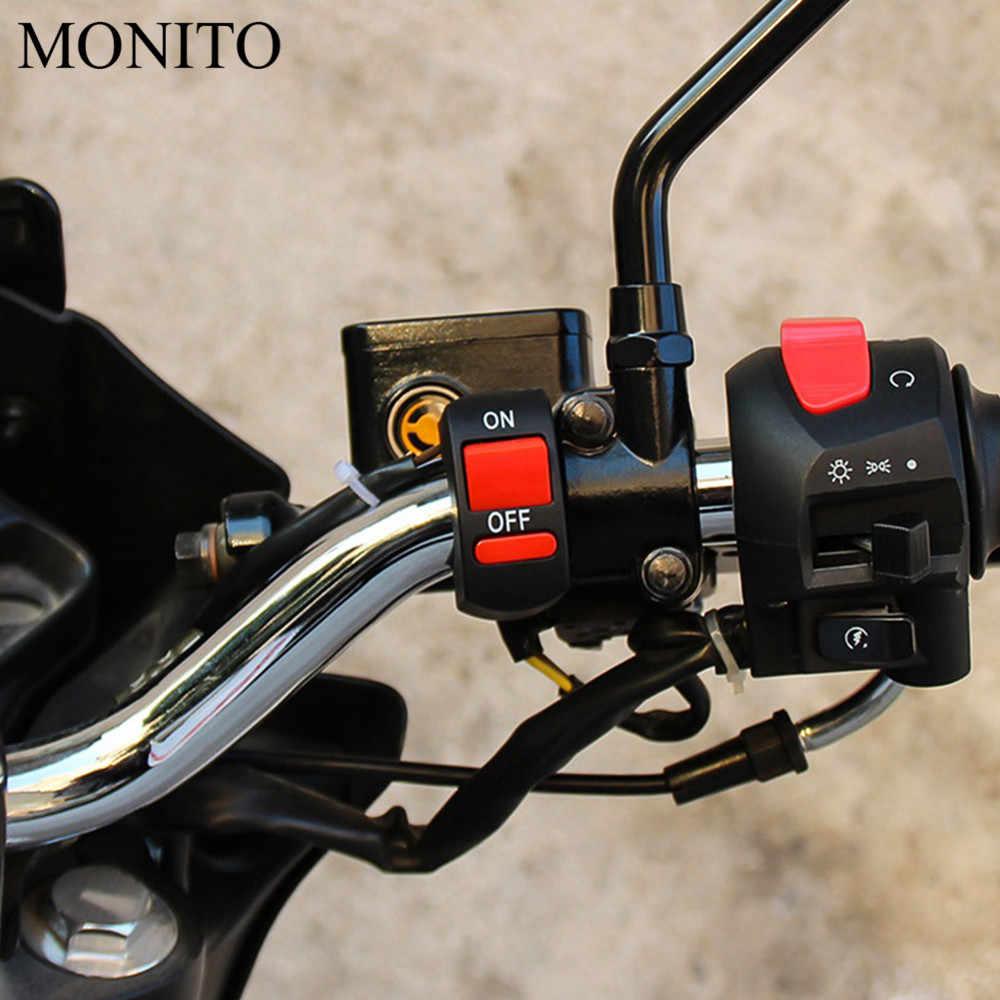 Moto Connettore Pulsante Interruttore della luce LED Interruttore Spingere il Connettore Per Suzuki GSXR GSX-R 600 750 1000 K1 K2 K3 K4 k5 K6 K7 K8 K9