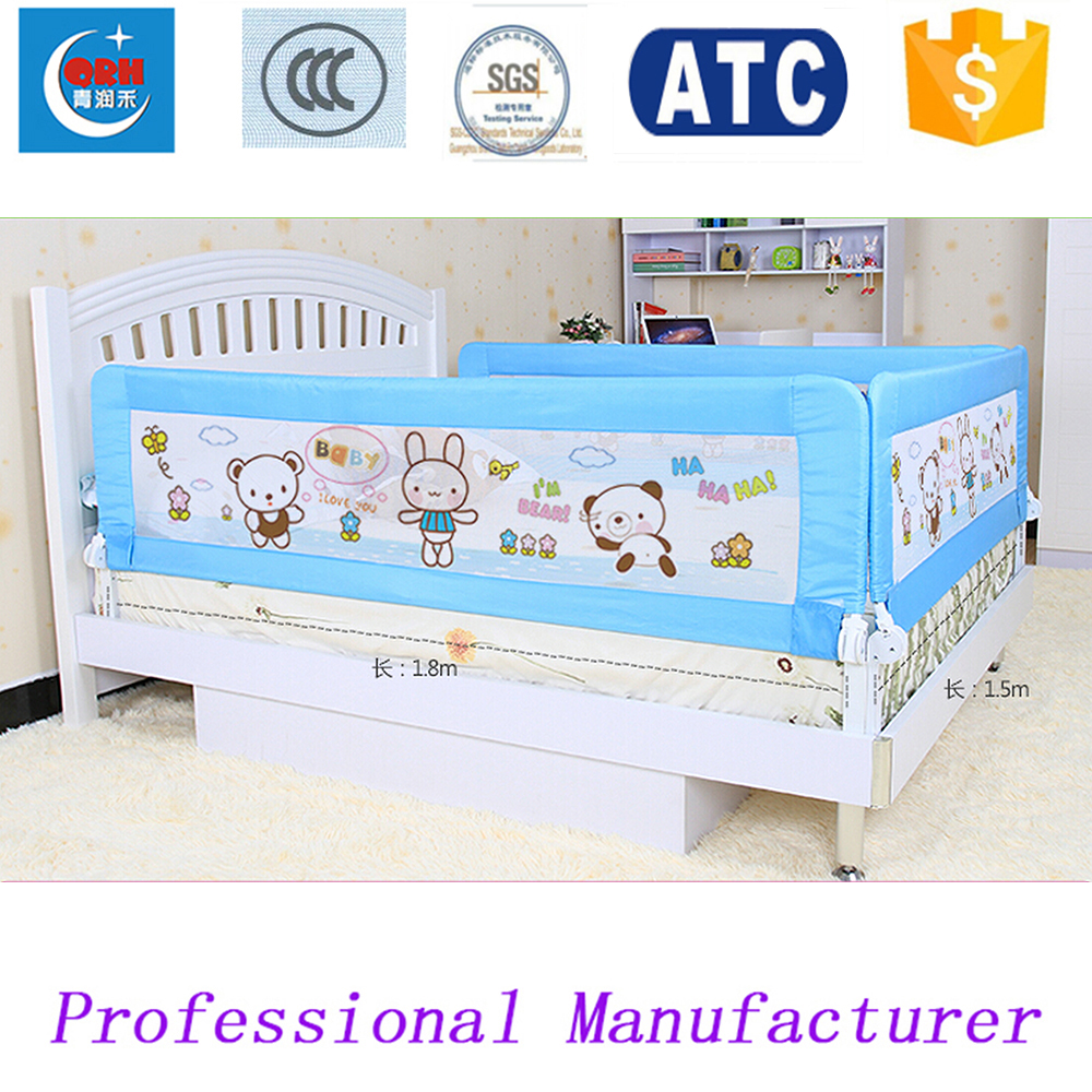 Three Sides Children Bed Guard Kids Fence Baby Rail In