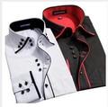 2017 Nuevo Diseño de la Tela Cruzada de Algodón Puro Color Blanco Vestido Formal de Negocios camisas de Los Hombres de Moda de Manga Larga Camisa Social Tamaño Grande 5XL 6XL
