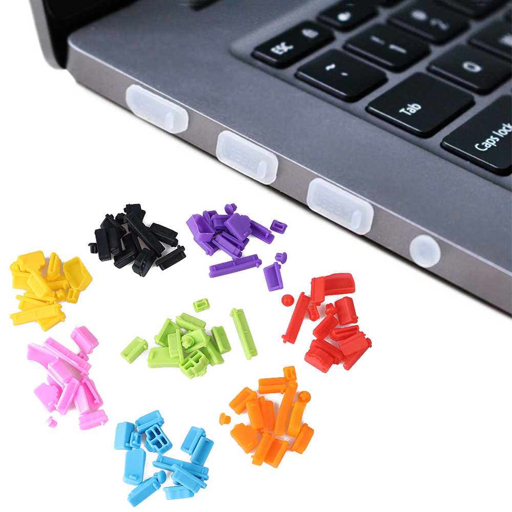 13Pcs Silicone Anti Dust Plug Stopper Universele Stofdicht Usb-poort HDMI RJ45 Interface Cover Voor Laptop PC