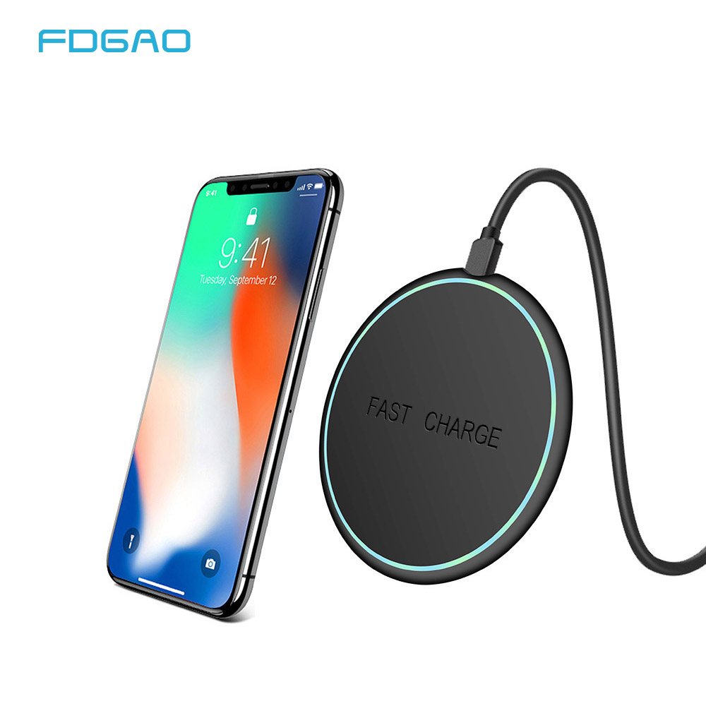 FDGAO Wireless-Charger Charging-Pad iPhone Xs Galaxy Qi Samsung No for S9 S8 Note 9/8/Usb
