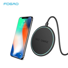 FDGAO Qi Wireless Charger For Samsung Galaxy S9 S8 Note 9 8 USB Mobile Phone Charger For iPhone Xs Max X 8 Wireless Charging Pad