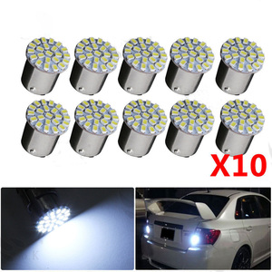10 Pcs 4W White SMD 1206 LED Light 12V Car Turn Signal Backup Bulb Marker Turn Lamp Signal Light Parking Lights Bulbs