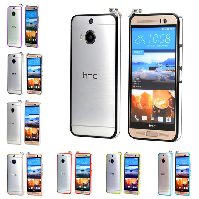 sports shoes f3449 c9d0a US $11.39 5% OFF|For HTC M9 Plus Bumper Case Luxury Highlight Metal Frame  Case Cover for HTC One M9 Plus / M9+ 5.2