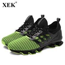 Xek Новинка 2017 года Run Спортивная обувь Для мужчин Кроссовки лук-лезвие носимых единственным спортивным Обувь амортизацию открытый Обувь JH38