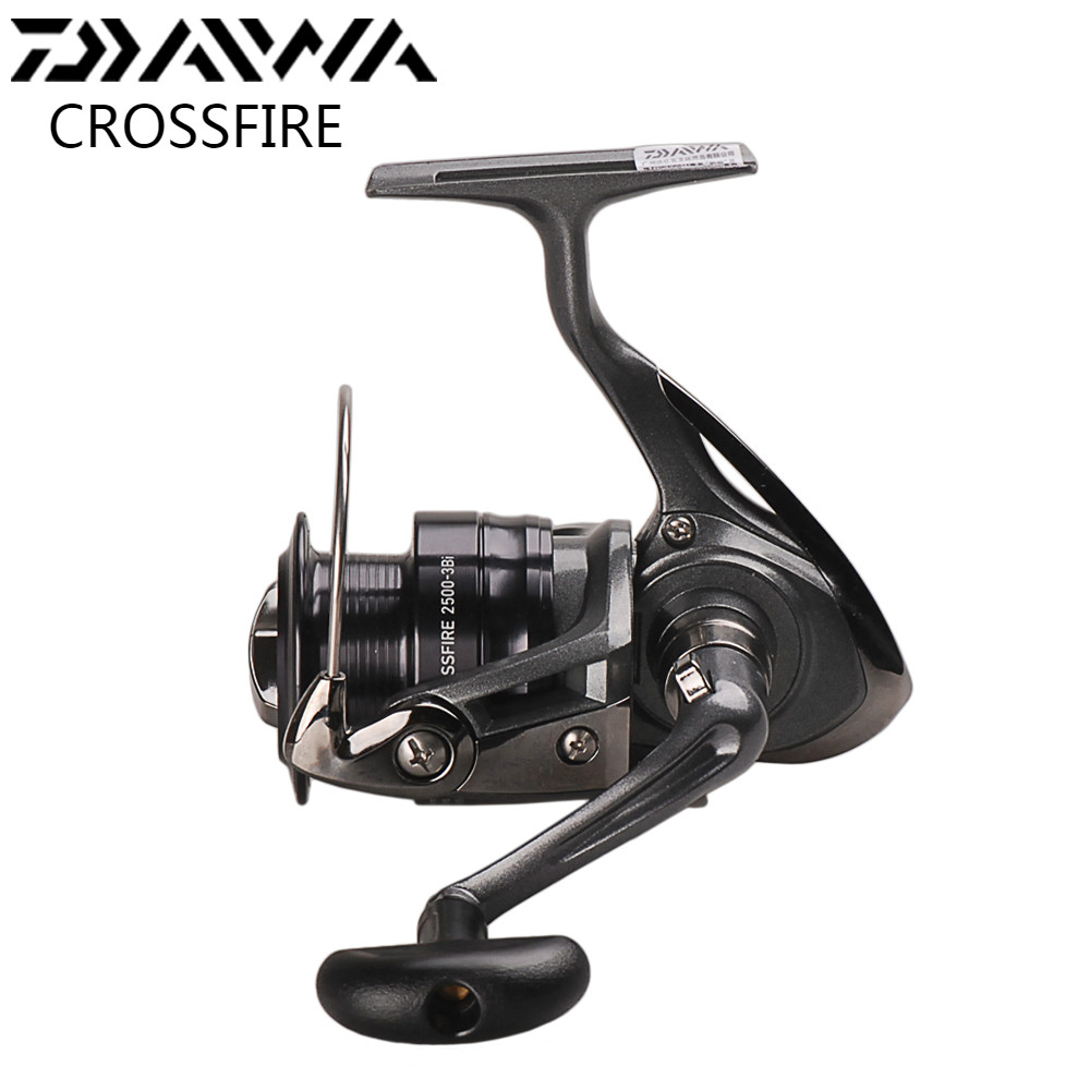 DAIWA CROSSFIRE Spinning Fishing Reel 2500-3Bi 3000-3Bi 4000-3Bi 5.3:1 Saltwater Fishing Reels Moulinets De Peche Spinning Wheel