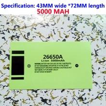 26650 lithium battery PVC heat shrinkable casing capacity standard film skin leather