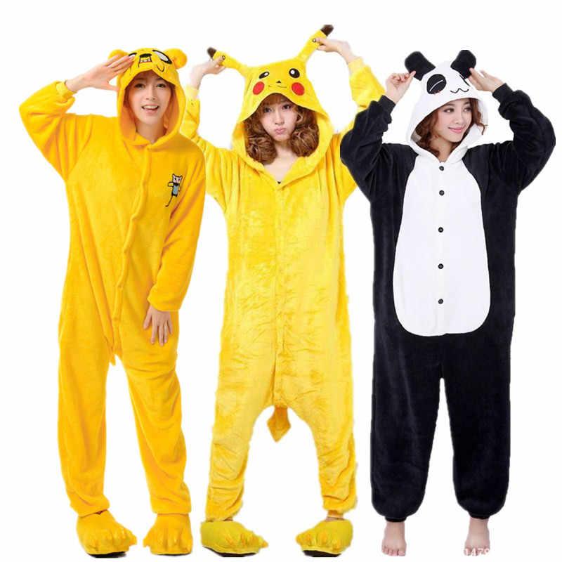 bf3d35007baffc Suave Pokemon Pikachu Onesies mujeres Kigurumi pijama Minions ropa ...