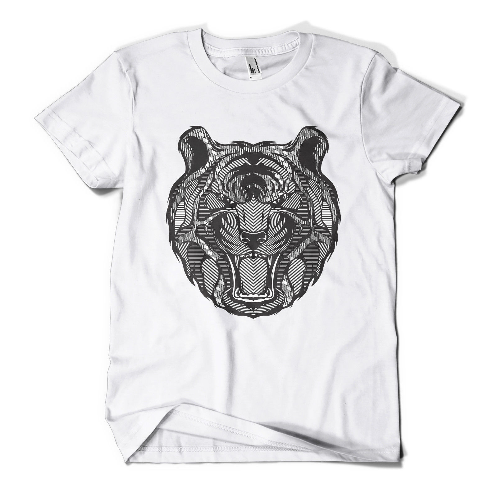 Design t shirt china - Graphic Tiger Printed T Shirt Hipster Design Urban Fashion Mens Girls Tee Top Hot New