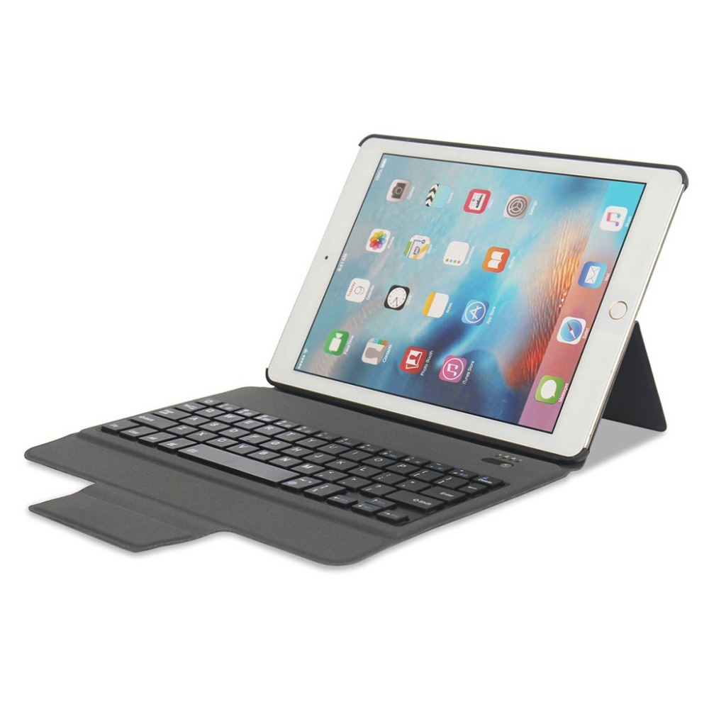 Smart Bluetooth Keyboard Cover Case With Multi-Angle Stand Intelligent Switch For iPad Air/Air 2/Pro 9.7 Inch Tablet PC New C26 new detachable official removable original metal keyboard station stand case cover for samsung ativ smart pc 700t 700t1c xe700t