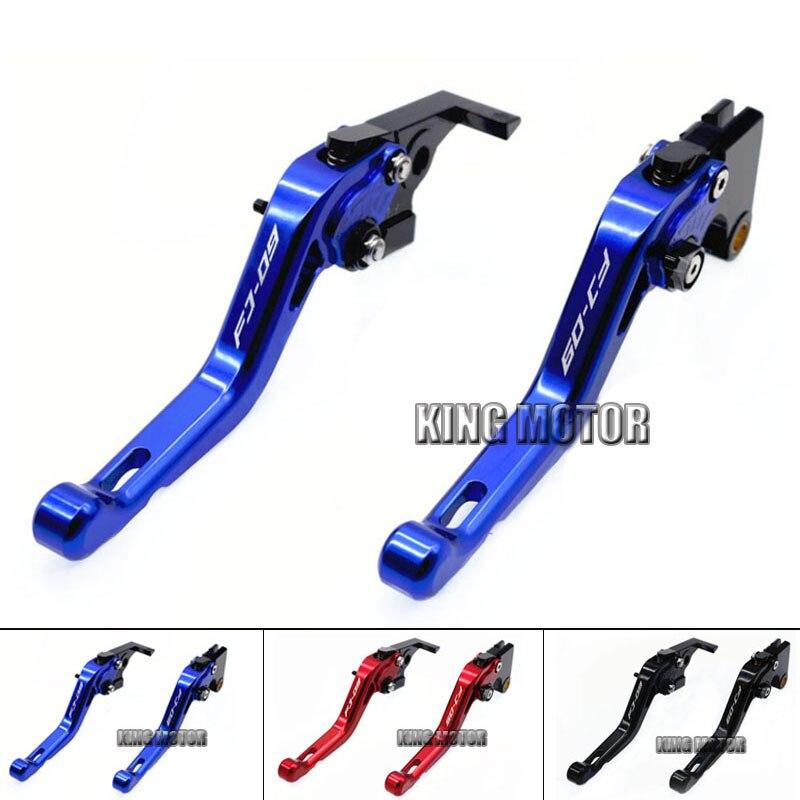 ФОТО For YAMAHA FJ-09 FJ09 2014-2015 Motorcycle Accessories Short Brake Clutch Levers LOGO FJ-09 Blue