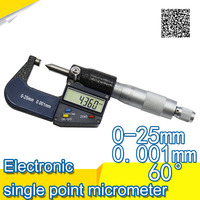 Digital Micrometer For External Measurements 0 25 Mm 0 001mm Micrometer Electronic Acute And Flattened Head