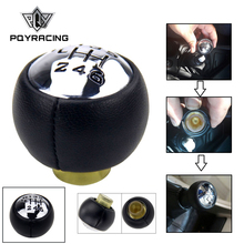 PQY - For PEUGEOT 307 308 3008 407 5008 807 PARTNER B9 TEPEE Gear Shift Knob 6 speed for citron C3 (A51) C4, C4 Picasso GSK80 6 speed car gear shift knob shifter stick head for peugeot 307 308 3008 407 5008 807 partner b9 tepee citroen c3 c4 c8 picasso