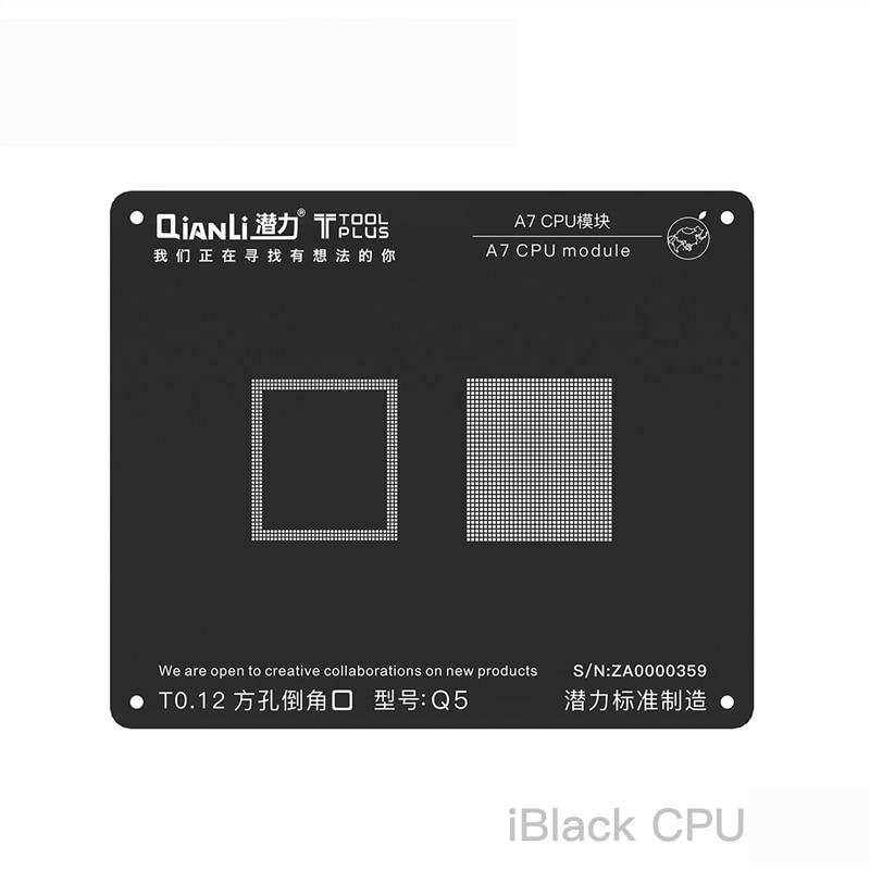Qianli 3D IBlack BGA CPU Reballing Stencil Kit IC Chips BGA Motherboard Repair Solder Template For IPhone XS XR XSMAX X 8P 8 7 6