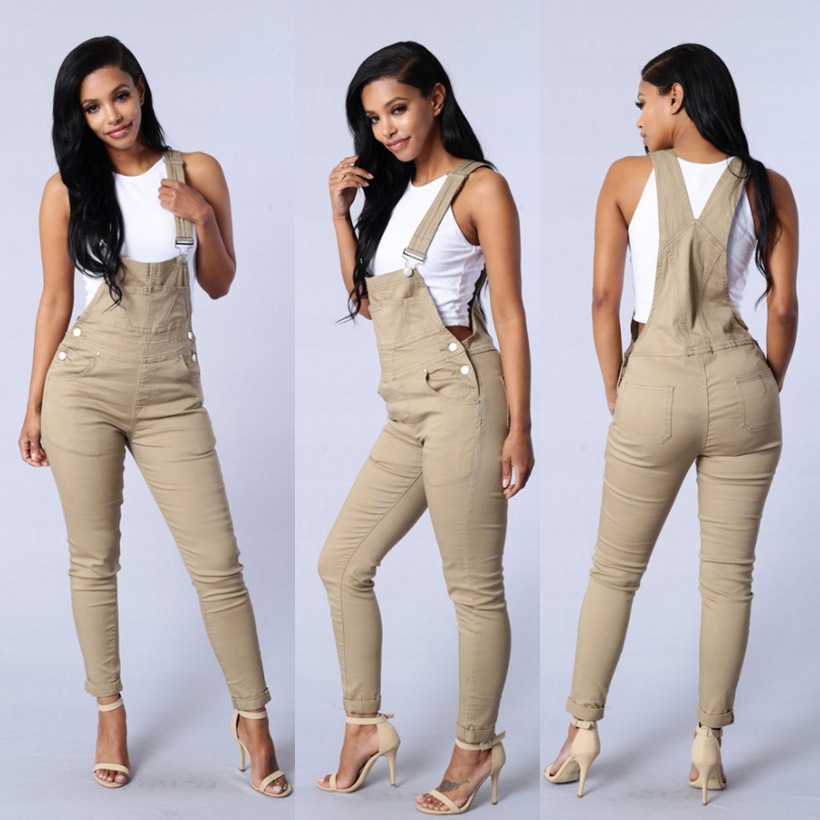 Online Buy Wholesale beige jumpsuit women from China beige ...