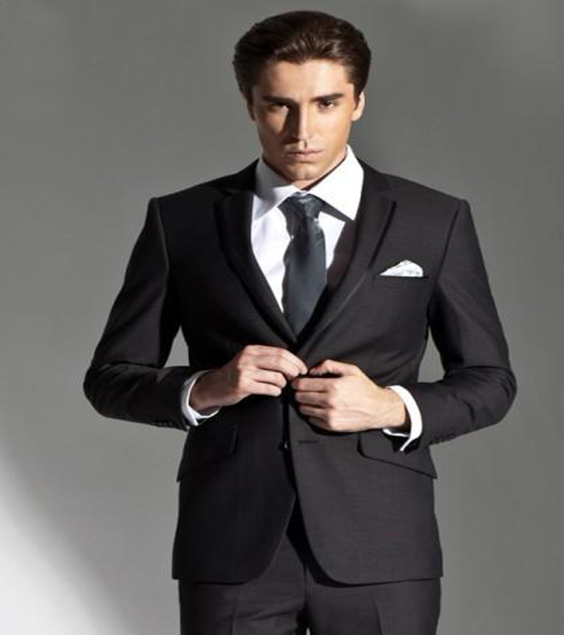 Suits 2019 Hottest Selling Mens Suits Classic Llapel Black Suits Professional Custom-made Suit/fast Shipping jacket+pants+tie Suits & Blazers