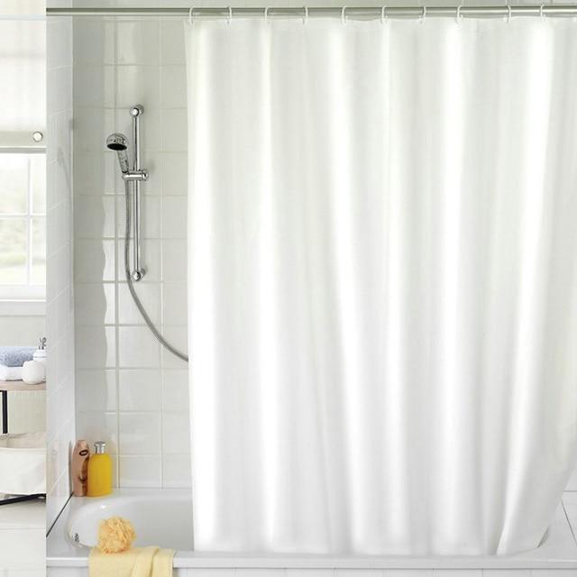 Wit Bad Gordijn Polyester Waterdicht Douchegordijn Privacy Bescherming  Badkamer Gordijn met Haak Huishoudelijke Badkamer Producten in Wit Bad  Gordijn ...