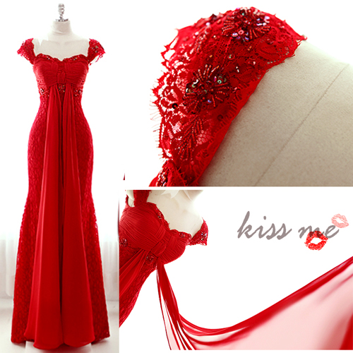 red lace long 2018 sexy prom party gown cap sleeve beading Formal robe de soire vestido de festa longo   bridesmaid     dresses