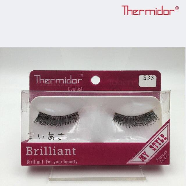 Thermidor Natural Long False Eyelashes Soft Fibre Hair Korean Style