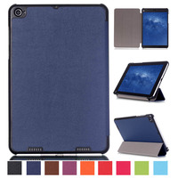 Case  Wake Sleep Stand Magnetic Ultar Thin 3-Folding Flip Leather Cover for Xiaomi MiPad mi Pad 2 Smart Case,transparent