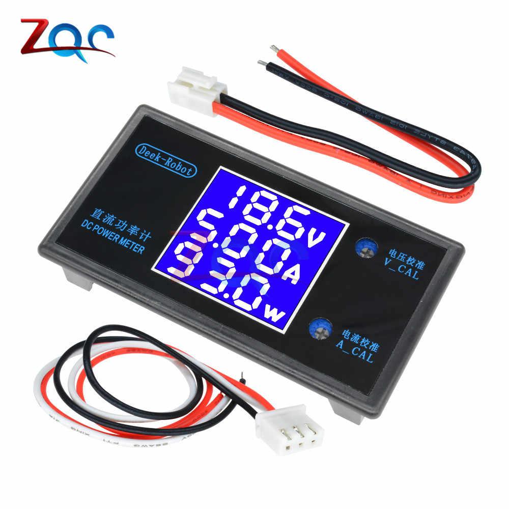 dc 0-50v 5a 250w lcd digital voltmeter ammeter wattmeter voltage current  power meter volt