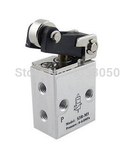 Pneumatic Air 2 Position 3 Way M5 5mm Port Mechanical Valve S3R M5 3r310 10 2 position 5 way g3 8 port size hand push pull mechanical valve