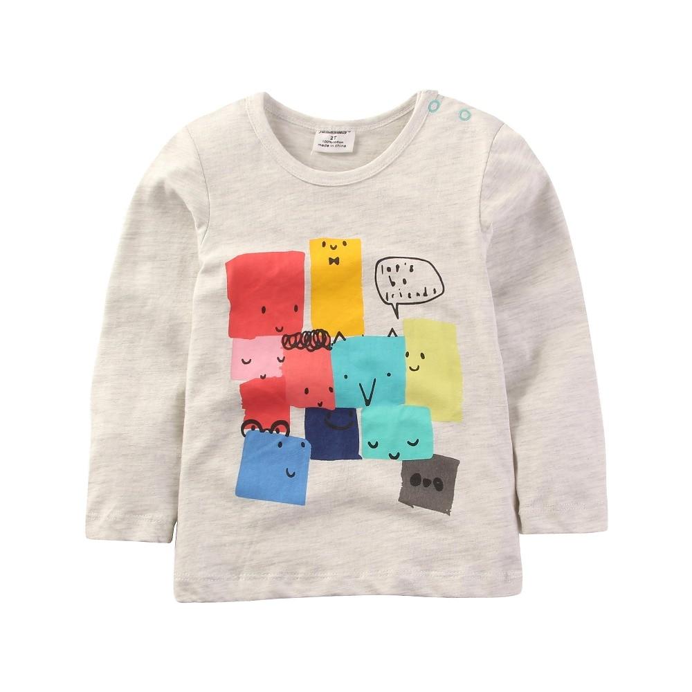 Jumpingbaby 2017 Kids Clothes Boys T shirt Children Spring T-Shirt Todder Camiseta Clothing Long Sleeve Baby Boy T-shirts Roupas