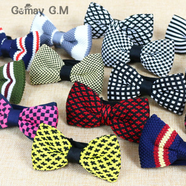 2015 Free Shipping New Men Neck Knitted Bowtie Single Bow Tie Pre-tied Adjustable Tuxedo Bowtie Zahlreich In Vielfalt