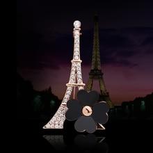 New Fashion Rhinestone Brooch Pins Scarf Buckle,Paris Eiffel Towel Crystal Brooch Bouquet Breastpin,Broche Brosch Brouch