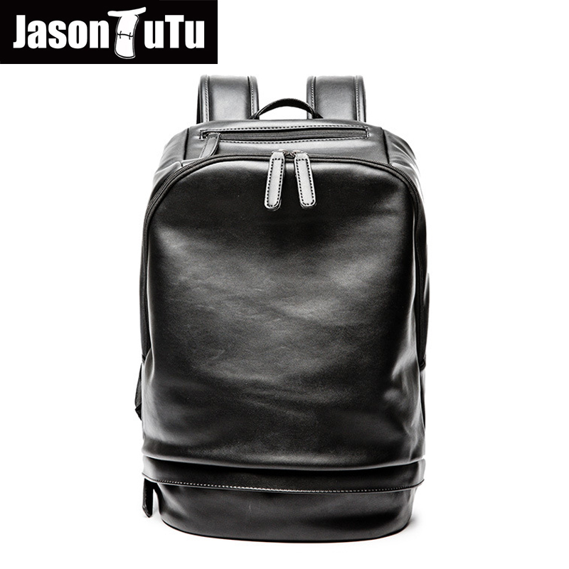 aliexpress Hot sale laptop backpack travel bag Black PU leather backpack men school bag for teenagers boys bookbags rugzak B717 hot designs laptop pc bag backpack school book backpack travel bag for 14 15 5 15 6 laptop