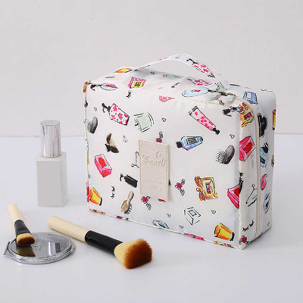 1PCs Portable Women Cosmetic Makeup Bag Square Travel Storage Bag Waterproof Travel Storage Organizer Multifunction