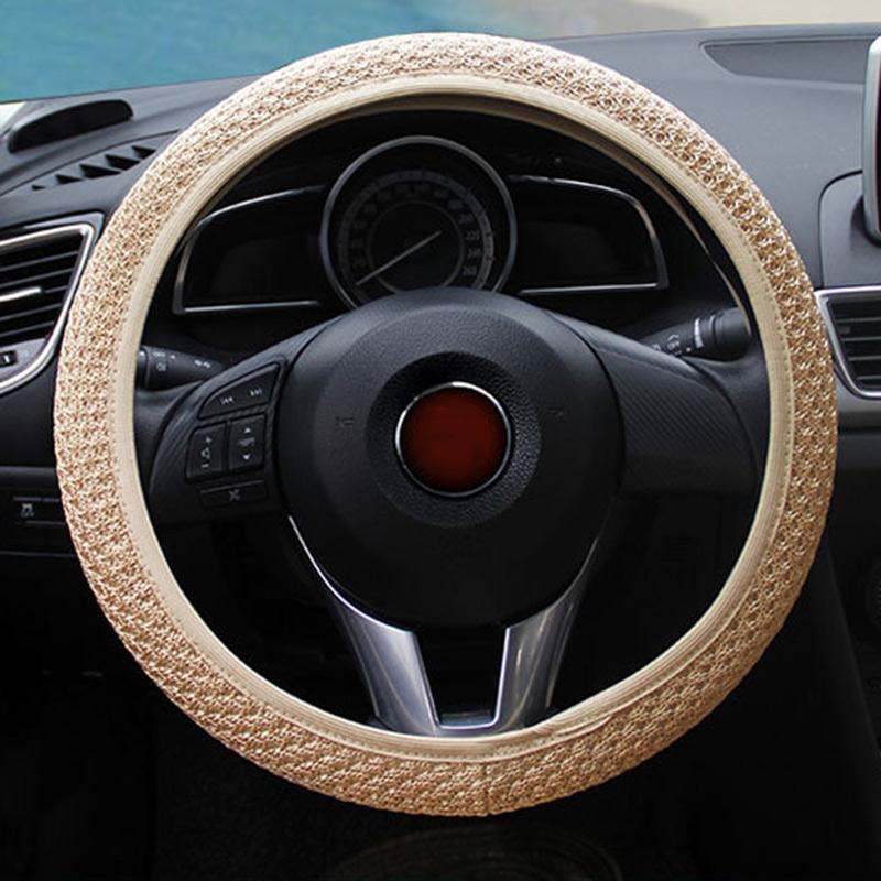 Vehemo Hot Sale Auto Car Accessories Universal Handmade Skidproof Steering Wheel Cover