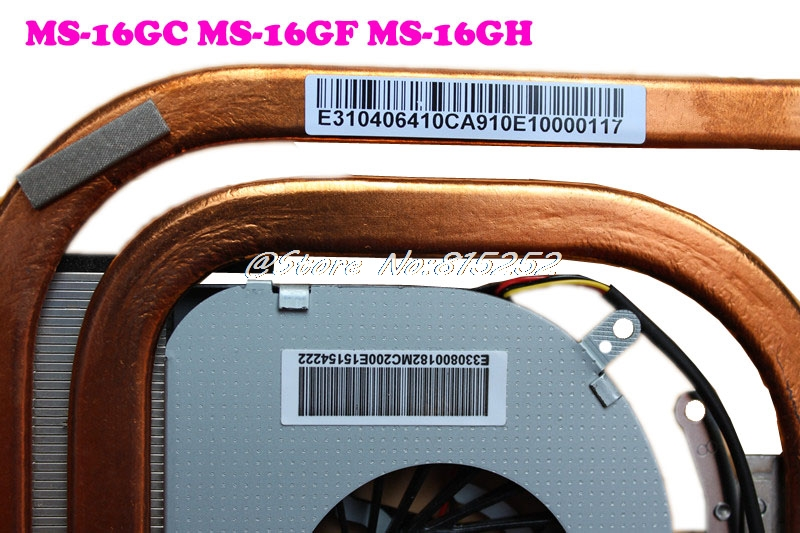 Original CPU FAN Heatsink For MSI GE60 2OC 2OD 2OE 2PC 2PE 2PF 2PL 2PG 2QD GP60 2QE 2QF MS 16GC MS 16GF MS 16GH PADD06015SL A166 in Laptop Cooling Pads from Computer Office