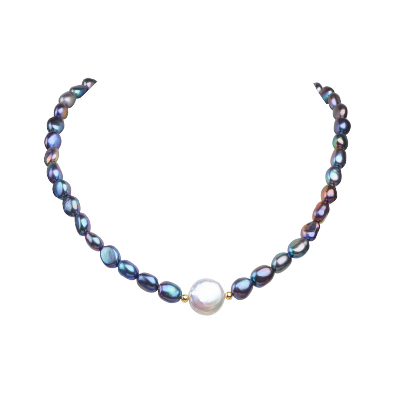 ASHIQI Black Natural Freshwater Baroque Pearl choker Necklace for Women 925 Sterling Silver Jewelry Fashion Necklaces ASHIQI Black Natural Freshwater Baroque Pearl choker Necklace for Women 925 Sterling Silver Jewelry Fashion Necklaces 2019