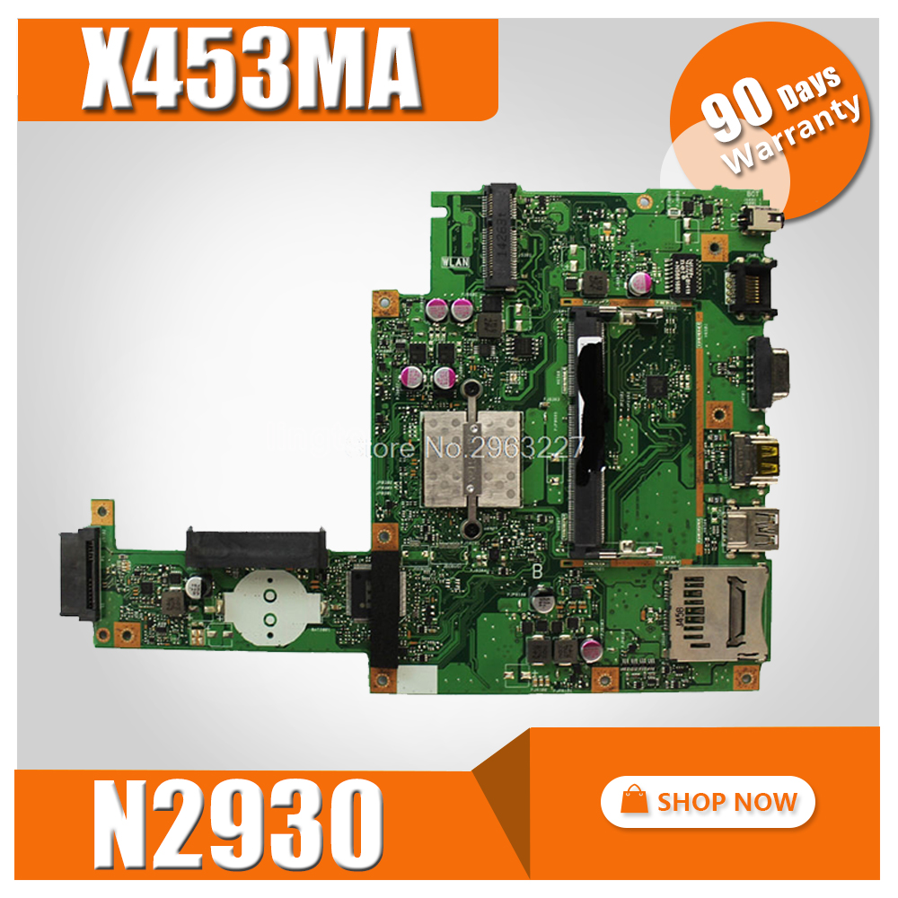 X453MA Motherboard N2930 CPU For ASUS X403MA X403M F453M Laptop motherboard X453MA Mainboard X453MA Motherboard test 100% OK