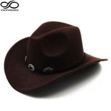 Ковбойская шляпа luckylianji из шерсти и фетра ковбойская с