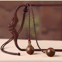 Wood bead pendant necklace national wind simple wild ornaments pendant sweater chain female long paragraph accessories
