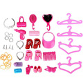 40pcs/set Combs mirror heels child interactive toys Accessories for doll DIY