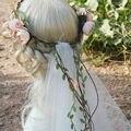 2016 Мода Цветочный Венок Завеса Flowe Ободки Диадемы Покрывалами Фата Свадебные Аксессуары Для Волос Свадебный Цветок Корона Цветок заставки