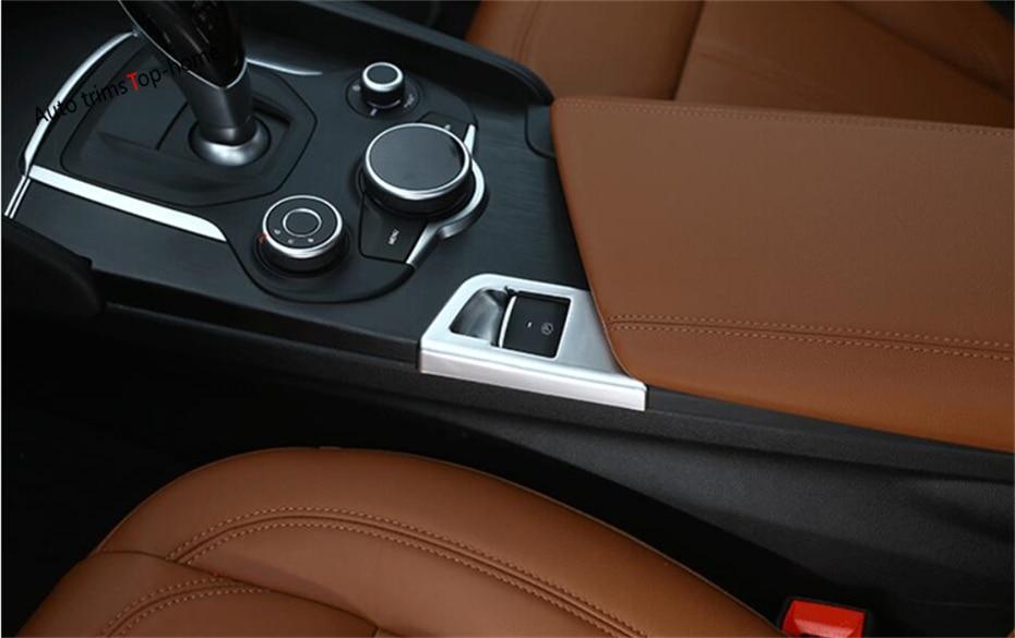 For Alfa Romeo Giulia 2016 2017 2018 ABS Electric Hand Parking Brake Button Frame Interior Trim 1 Pcs