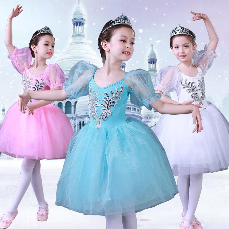2019 Girls Ballet Dress Tutu Children Girls Dance Clothing Kids Ballet Dress Costumes Girls Dancer Leotards Dance Wear
