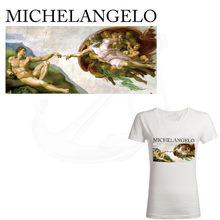 Hot Michelangelo patches voor kleding 28*15.5 cm DIY T-shirt Sweatshirt kleding meisje patches termoadhesivos transfer(China)