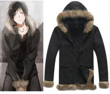 FANCY Cosplay Costume Black Coat Durarara Izaya Orihara Jacket Sweatshirts Top Unisex Men Women