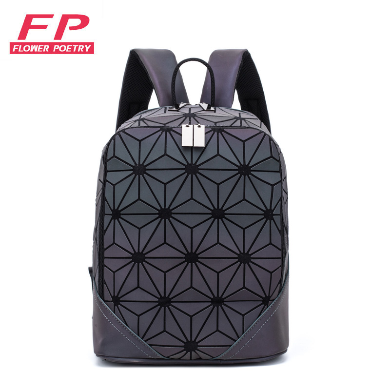 2019 New Women Backpack Luminous Geometric Plaid Men Backpacks For Teenage Girls Bagpack Bag Holographic Backpack School Mochila2019 New Women Backpack Luminous Geometric Plaid Men Backpacks For Teenage Girls Bagpack Bag Holographic Backpack School Mochila