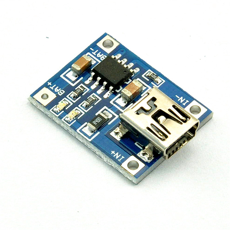 10Pcs 5V mini USB 1A 18650 TP4056 Lithium Battery Charging Board With Protection Charger Module R SODIAL